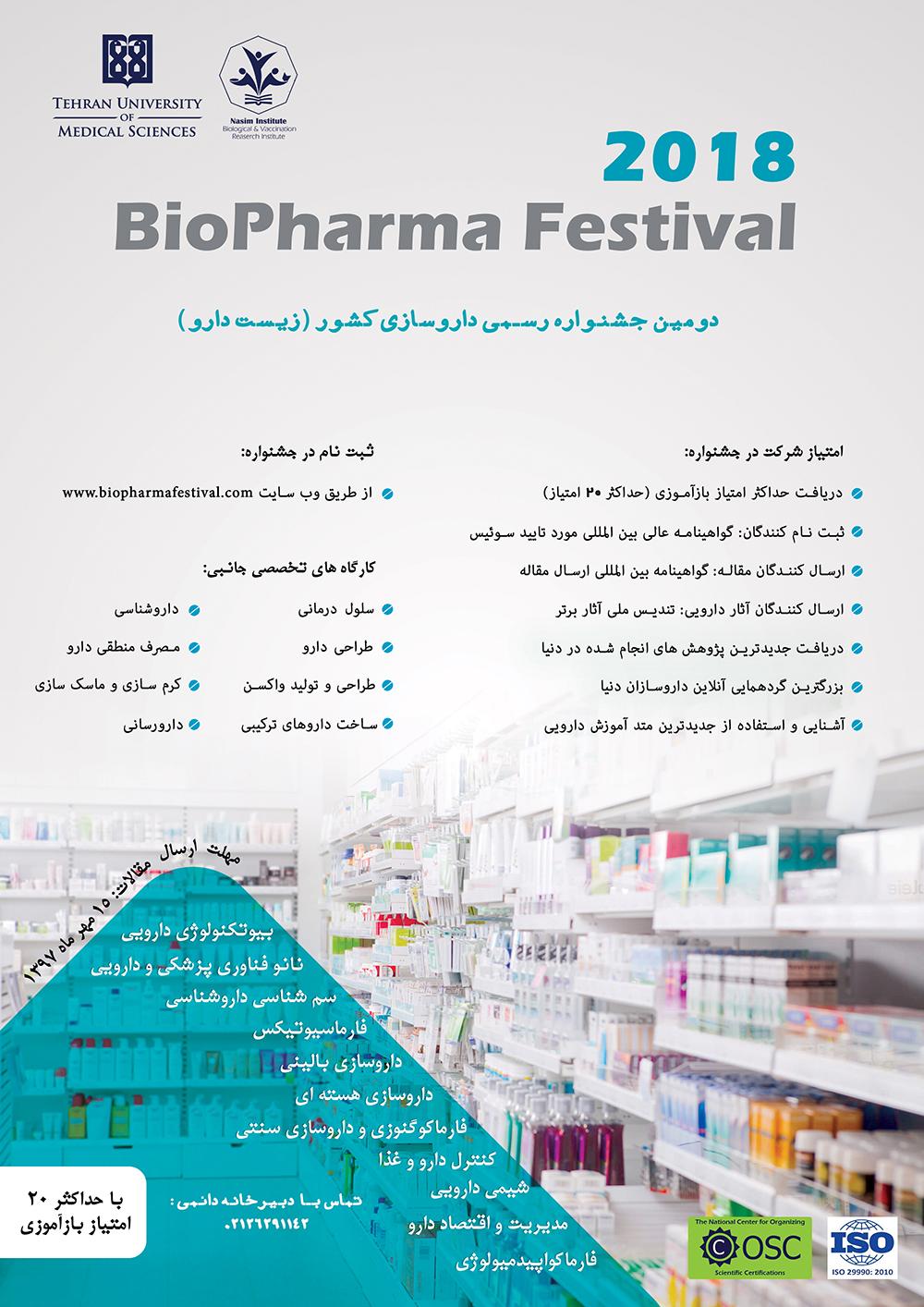 دومین جشنواره رسمی داروسازی کشور، زیست دارو